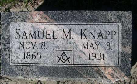KNAPP, SAMUEL M. - Dawes County, Nebraska | SAMUEL M. KNAPP - Nebraska Gravestone Photos