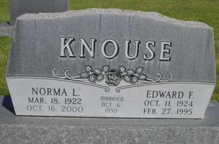 KNOUSE, EDWARD F. - Dawes County, Nebraska | EDWARD F. KNOUSE - Nebraska Gravestone Photos