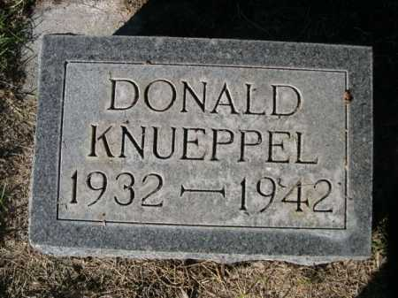 KNUEPPEL, DONALD - Dawes County, Nebraska | DONALD KNUEPPEL - Nebraska Gravestone Photos