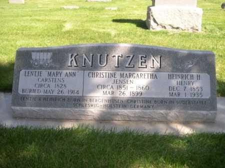 "KNUTZEN, HEINRICH H. ""HENRY - Dawes County, Nebraska | HEINRICH H. ""HENRY KNUTZEN - Nebraska Gravestone Photos"