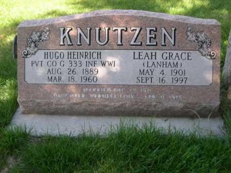 LANHAM KNUTZEN, LEA GRACE - Dawes County, Nebraska | LEA GRACE LANHAM KNUTZEN - Nebraska Gravestone Photos