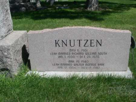 KNUTZEN, LEAH GRACE - Dawes County, Nebraska | LEAH GRACE KNUTZEN - Nebraska Gravestone Photos