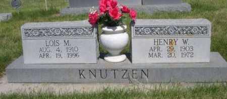 KNUTZEN, HENRY W. - Dawes County, Nebraska | HENRY W. KNUTZEN - Nebraska Gravestone Photos
