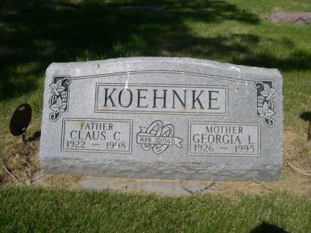 KOEHNKE, CLAUS C. - Dawes County, Nebraska | CLAUS C. KOEHNKE - Nebraska Gravestone Photos