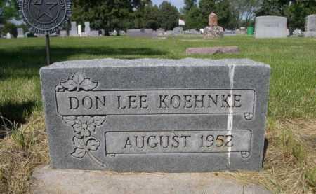 KOEHNKE, DON LEE - Dawes County, Nebraska | DON LEE KOEHNKE - Nebraska Gravestone Photos