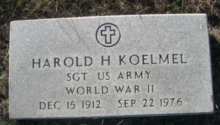 KOELMEL, HAROLD H. - Dawes County, Nebraska | HAROLD H. KOELMEL - Nebraska Gravestone Photos