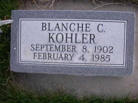 KOHLER, BLANCH C. - Dawes County, Nebraska | BLANCH C. KOHLER - Nebraska Gravestone Photos