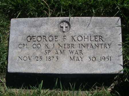 KOHLER, GEORGE F. - Dawes County, Nebraska   GEORGE F. KOHLER - Nebraska Gravestone Photos