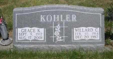 KOHLER, WILLARD C. - Dawes County, Nebraska | WILLARD C. KOHLER - Nebraska Gravestone Photos