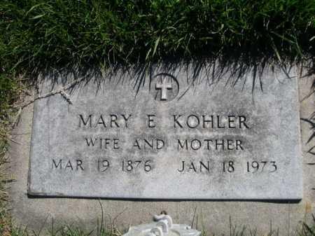 KOHLER, MARY E. - Dawes County, Nebraska   MARY E. KOHLER - Nebraska Gravestone Photos