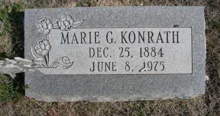 KONRATH, MARIE G. - Dawes County, Nebraska   MARIE G. KONRATH - Nebraska Gravestone Photos