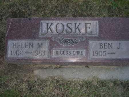 KOSKE, BEN J. - Dawes County, Nebraska | BEN J. KOSKE - Nebraska Gravestone Photos