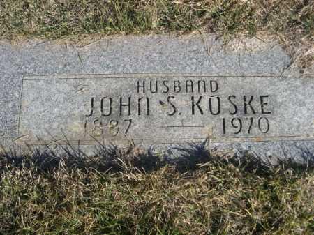 KOSKE, JOHN S. - Dawes County, Nebraska | JOHN S. KOSKE - Nebraska Gravestone Photos
