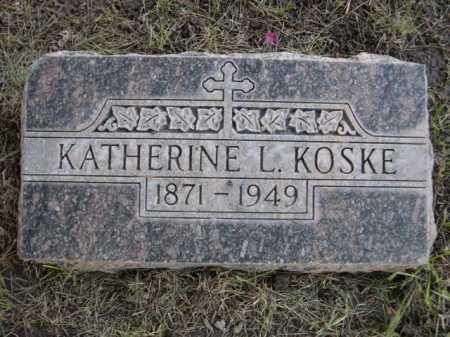KOSKE, KATHERINE L. - Dawes County, Nebraska | KATHERINE L. KOSKE - Nebraska Gravestone Photos