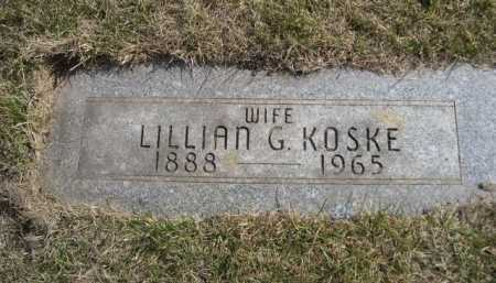 KOSKE, LILLIAN G. - Dawes County, Nebraska | LILLIAN G. KOSKE - Nebraska Gravestone Photos