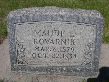 KOVARNIK, MAUDE L. - Dawes County, Nebraska | MAUDE L. KOVARNIK - Nebraska Gravestone Photos