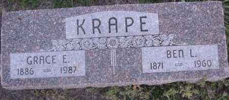 KRAPE, GRACE E. - Dawes County, Nebraska | GRACE E. KRAPE - Nebraska Gravestone Photos