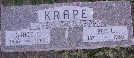 KRAPE, BEN L. - Dawes County, Nebraska | BEN L. KRAPE - Nebraska Gravestone Photos