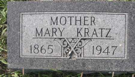 KRATZ, MARY - Dawes County, Nebraska   MARY KRATZ - Nebraska Gravestone Photos