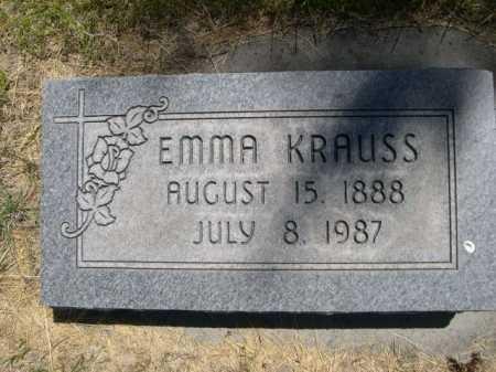 KRAUSS, EMMA - Dawes County, Nebraska | EMMA KRAUSS - Nebraska Gravestone Photos
