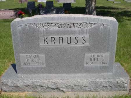 KRAUSS, AMELIA - Dawes County, Nebraska | AMELIA KRAUSS - Nebraska Gravestone Photos
