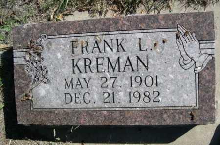 KREMAN, FRANK L. - Dawes County, Nebraska | FRANK L. KREMAN - Nebraska Gravestone Photos