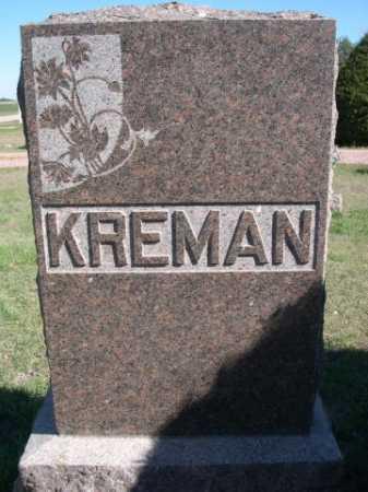 KREMAN, FAMILY - Dawes County, Nebraska | FAMILY KREMAN - Nebraska Gravestone Photos