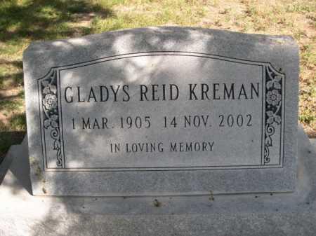 REID KREMAN, GLADYS - Dawes County, Nebraska | GLADYS REID KREMAN - Nebraska Gravestone Photos