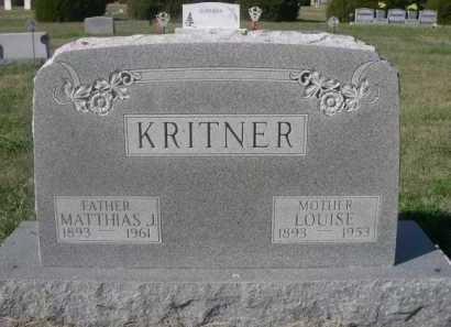 KRITNER, LOUISE - Dawes County, Nebraska | LOUISE KRITNER - Nebraska Gravestone Photos