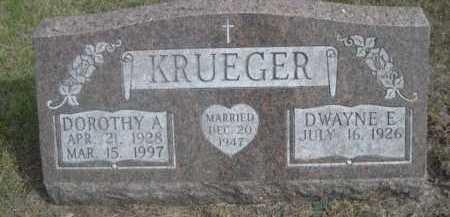 KRUEGER, DOROTHY A. - Dawes County, Nebraska | DOROTHY A. KRUEGER - Nebraska Gravestone Photos