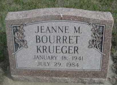 KRUEGER, JEANNE M. - Dawes County, Nebraska | JEANNE M. KRUEGER - Nebraska Gravestone Photos