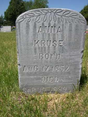 KRUSE, ANNA - Dawes County, Nebraska   ANNA KRUSE - Nebraska Gravestone Photos