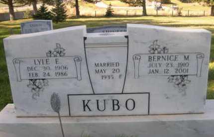 KUBO, BERNICE M. - Dawes County, Nebraska | BERNICE M. KUBO - Nebraska Gravestone Photos