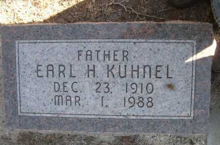 KUHNEL, EARL H. - Dawes County, Nebraska   EARL H. KUHNEL - Nebraska Gravestone Photos