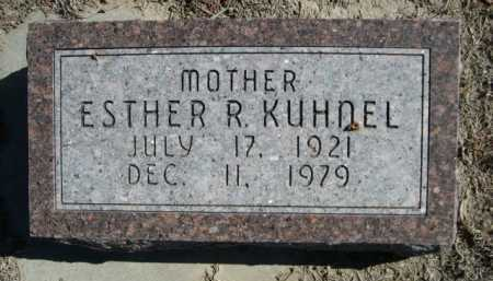 KUHNEL, ESTHER R. - Dawes County, Nebraska | ESTHER R. KUHNEL - Nebraska Gravestone Photos
