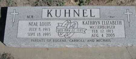 WASSERBURGER KUHNEL, KATHRYN ELIZABETH - Dawes County, Nebraska | KATHRYN ELIZABETH WASSERBURGER KUHNEL - Nebraska Gravestone Photos