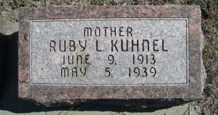 KUHNEL, RUBY L. - Dawes County, Nebraska   RUBY L. KUHNEL - Nebraska Gravestone Photos