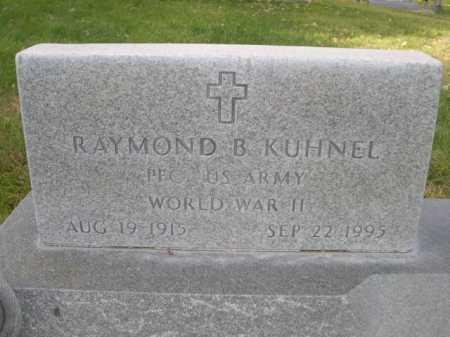 KUHNEL, RAYMOND B. - Dawes County, Nebraska | RAYMOND B. KUHNEL - Nebraska Gravestone Photos