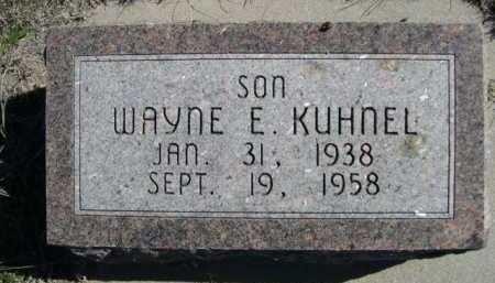 KUHNEL, WAYNE E. - Dawes County, Nebraska   WAYNE E. KUHNEL - Nebraska Gravestone Photos