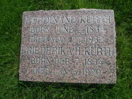 KURTH, FERDINAND - Dawes County, Nebraska | FERDINAND KURTH - Nebraska Gravestone Photos