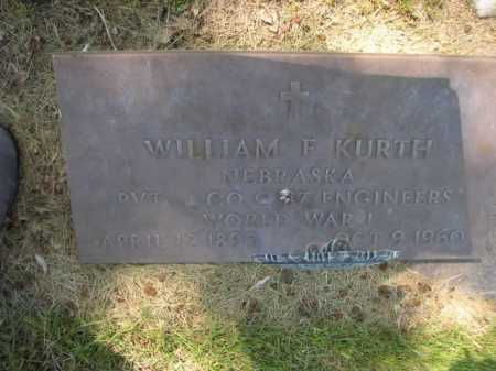 KURTH, WILLAIM F. - Dawes County, Nebraska | WILLAIM F. KURTH - Nebraska Gravestone Photos