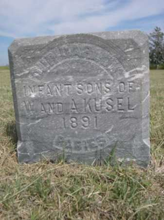 KUSEL, INFANT SONS OF W & A. - Dawes County, Nebraska | INFANT SONS OF W & A. KUSEL - Nebraska Gravestone Photos
