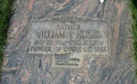 KUSEL, WILLIAM L. - Dawes County, Nebraska   WILLIAM L. KUSEL - Nebraska Gravestone Photos