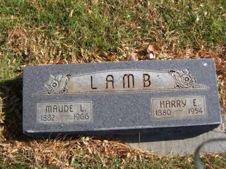 LAMB, MAUDE L. - Dawes County, Nebraska | MAUDE L. LAMB - Nebraska Gravestone Photos