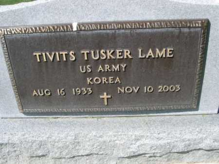 LAME, TIVITS TUSKER - Dawes County, Nebraska | TIVITS TUSKER LAME - Nebraska Gravestone Photos