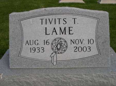 LAME, TIVITS T. - Dawes County, Nebraska | TIVITS T. LAME - Nebraska Gravestone Photos