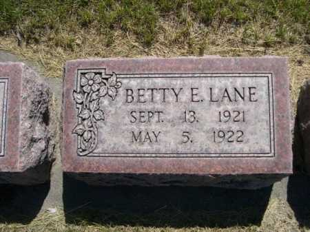 LANE, BETTY E. - Dawes County, Nebraska | BETTY E. LANE - Nebraska Gravestone Photos