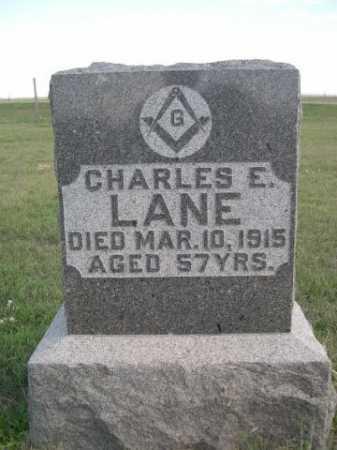 LANE, CHARLES E. - Dawes County, Nebraska | CHARLES E. LANE - Nebraska Gravestone Photos