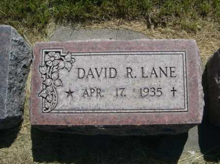 LANE, DAVID R. - Dawes County, Nebraska | DAVID R. LANE - Nebraska Gravestone Photos