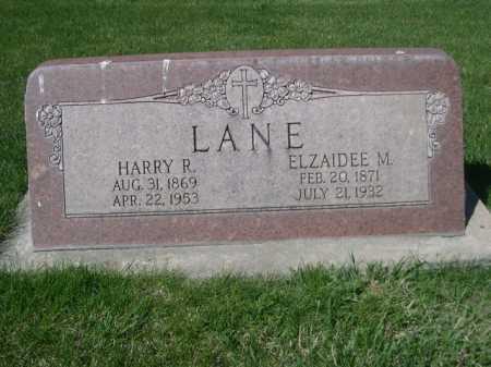 LANE, HARRY R. - Dawes County, Nebraska | HARRY R. LANE - Nebraska Gravestone Photos